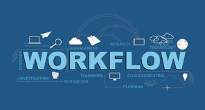 workflow text infographic design graphic concept Stock Photo