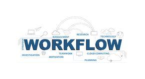 workflow text infographic design graphic concept Royalty Free Stock Photography