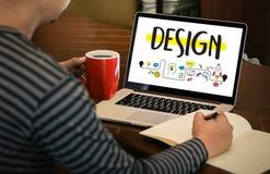 WORKFLOWdesignprocess från att definiera problemutvecklingen De royaltyfri bild