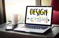 WORKFLOWdesignprocess från att definiera problemutvecklingen De stock illustrationer