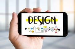 WORKFLOWdesignprocess från att definiera problemutvecklingen De royaltyfri fotografi