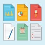 Workflowdokument vektor illustrationer