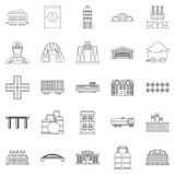 Workfolk icons set, outline style. Workfolk icons set. Outline set of 25 workfolk vector icons for web  on white background Royalty Free Stock Photo