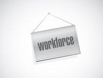 Workforce banner sign concept illustration Stock Images