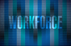 workforce binary sign concept Stock Photography