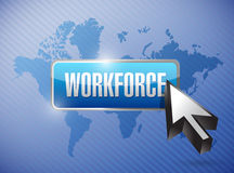Workforce button illustration design Stock Image