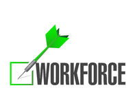 Workforce check dart sign concept Royalty Free Stock Photography