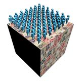 Workforce on Chinese Yuan cube. Workforce on giant Chinese Yuan cube illustration Stock Photo