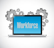 Workforce electronic technology sign concept Royalty Free Stock Photo