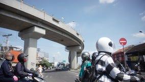 Workforce. The flyover in the corner of yogyakarta indonesia Stock Photos