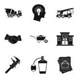 Workforce icons set, simple style. Workforce icons set. Simple set of 9 workforce vector icons for web isolated on white background Stock Image