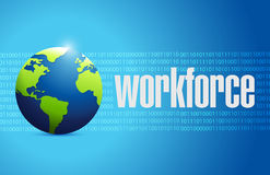 Workforce international sign concept Royalty Free Stock Photo