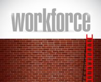 Workforce ladder concept illustration Stock Photos