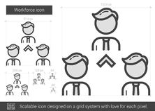 Workforce line icon. Royalty Free Stock Images