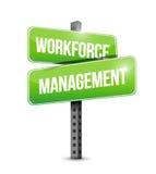 Workforce management signpost illustration design Royalty Free Stock Photo