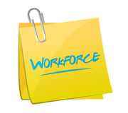 Workforce memo post sign concept Stock Image
