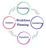 Workforce Planning Process. Steps in Workforce Planning Process Royalty Free Stock Images