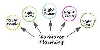 Workforce Planning Targets. Components of Workforce Planning Targets Royalty Free Stock Photo