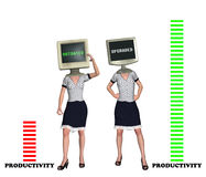Workforce Productivity Efficiency Concept Illustration Stock Photos