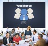 Workforce Team Teamwork Connection Partnership Concept. Business People Discuss Workforce Teamwork Connection Partnership Royalty Free Stock Photo