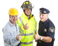 Workforce Thumbsup Stock Photography