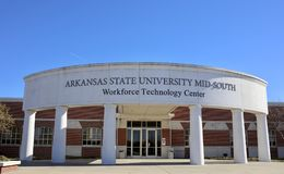 Workforce Technology Center at Arkansas State University Mid-South. The Workforce Training at ASUMH  empowers people to move toward a better paying job in Stock Images