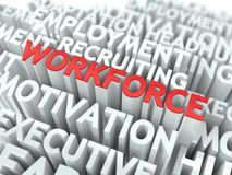 Workforce. Wordcloud Concept. Stock Image
