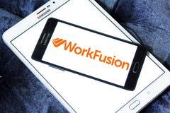 WorkFusion firmy softwarowa logo zdjęcie stock