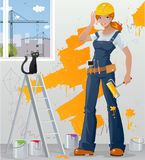 Workgirl vector illustratie