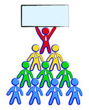 Workgroup. (pyramid scheme) with a empty message Royalty Free Stock Photography