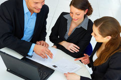 Workgroup interacting Royalty Free Stock Photos