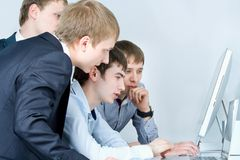 Workgroup interacting Stock Photos