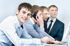 Workgroup interacting Stock Photo