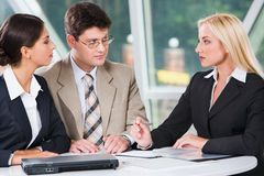 Workgroup meeting Royalty Free Stock Photos