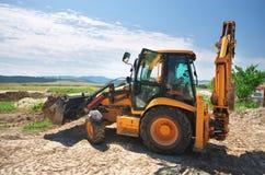 Workimg d'excavatrice photo libre de droits