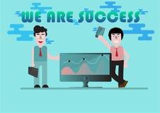 Workin del negocio del concepto ilustración del vector