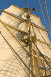 Working aloft Tall ship Stock Photo