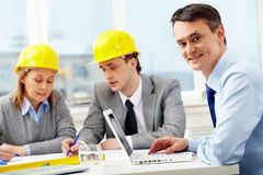 Working architect Royalty Free Stock Photo