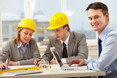 Working architect Royalty Free Stock Image