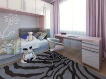 Working area in bedroom Stock Images
