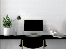Working area in the interior Royalty Free Stock Photos