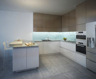 Working area of the kitchen contemporary style Stock Photo
