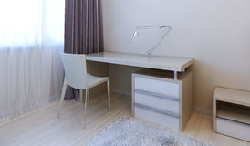 Working area modern bedroom Royalty Free Stock Photography