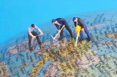 Working around the world Stock Images