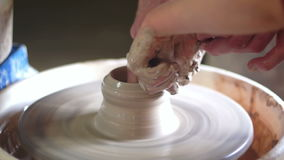 Working art pot clay stock video footage