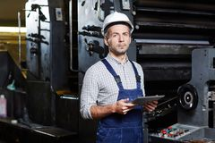 Working as repairman royalty free stock photos
