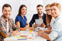 Working as team. Royalty Free Stock Image