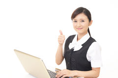 Working Asian business woman Stock Photography