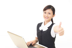 Working Asian business woman Royalty Free Stock Photography