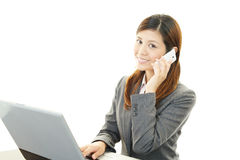Working Asian business woman royalty free stock photos